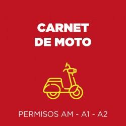 Carnet de Moto AM - A1 - A2